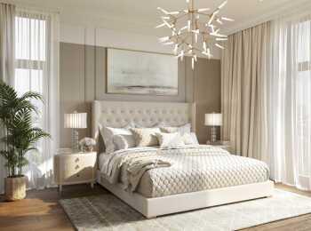 Дизайнерская отделка спальни